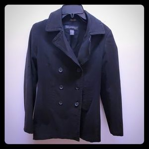 Banana Republic black peacoat